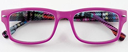 Leesbril voor dames en heren, rood + 3.00 dioptrie 31Z-B4-RED, 3-dioptrie bril, voorgemonteerd, polycarbonaat frame en Flex-systeem