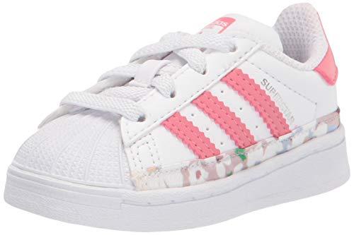 adidas Originals Kids Superstar Shoes Sneaker, White/Hazy Rose/Hazy Rose, 10 US Unisex Toddler
