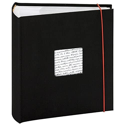 Panodia Linéa - Álbum de Fotos con Goma elástica (300 Fotos, 11 x 15 cm), Color Negro