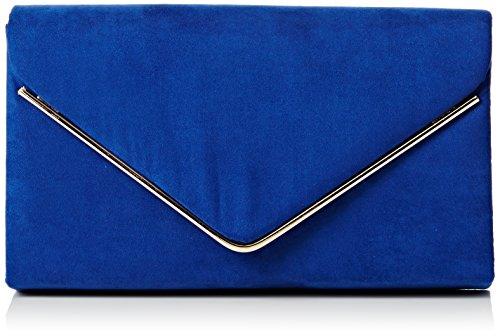 SwankySwans Bolso de mano Oscar con sobre, de terciopelo, para fiesta de graduación, para mujer, color Azul, talla Talla Unica