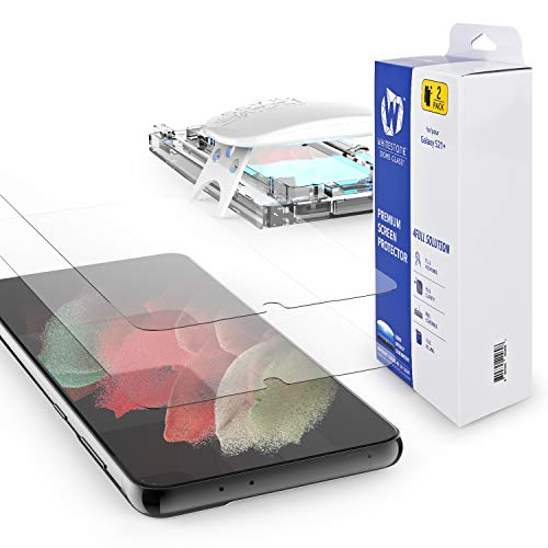 Galaxy S21 Plus Screen Protector [Dome Glass] Full HD Clear 3D Curved Edge Tempered Glass [Better Solution for Ultrasonic Fingerprint] Installation Tray by Whitestone - Two Pack