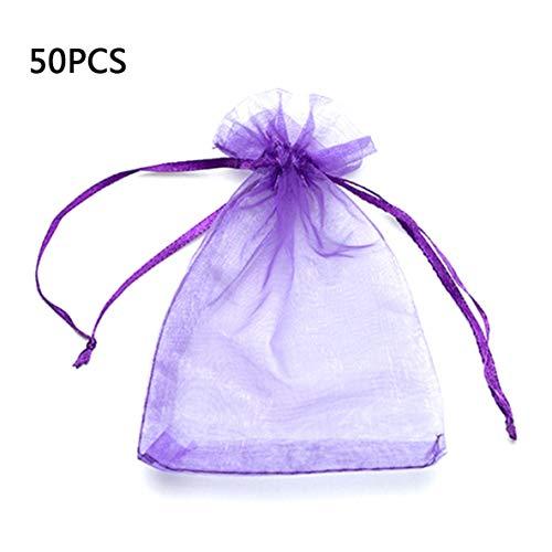 Rouku Bolso de Malla de Perlas Muestra de cosméticos Muestra de Gasa Bolso de Caramelo Embalaje de Caramelo de Boda Cordón