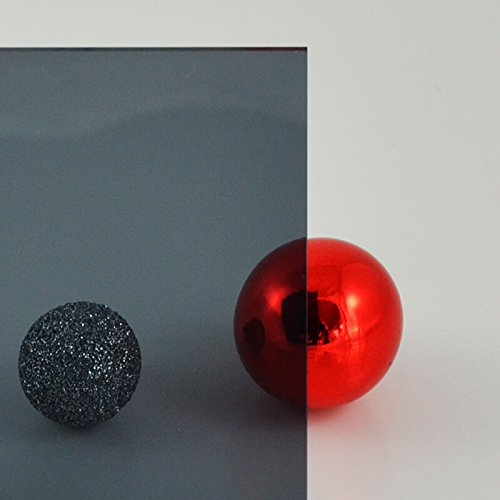 PLEXIGLAS® grau 7C83 GT, Lichtdurchlässigkeit 21% - transparentes, getöntes PLEXIGLAS® Maße: 25 x 25 x 0,3 cm