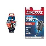 Loctite 60 Segundos, adhesivo universal, pegamento fuerte para todo, cola rápida para reparaciones en el hogar + Super Glue-3 Pincel, pegamento transparente con pincel aplicador