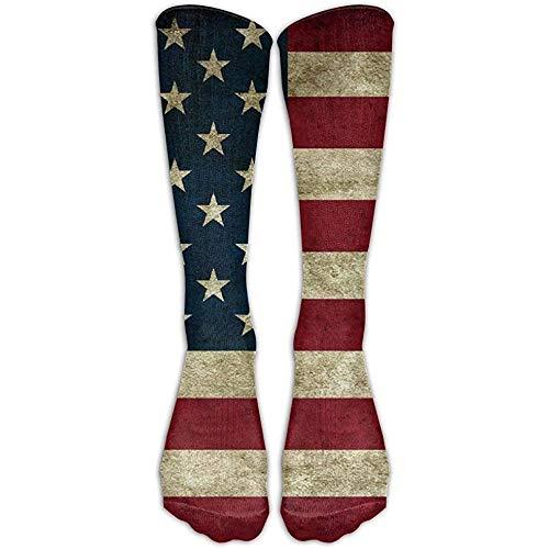 NA Amerikaanse vlag witte kop zeeadler kousen lange buis sokken grote kwaliteit klassieke kniekousen sportsokken voor vrouwen tieners meisjes