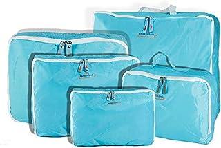 5 قطع من حقائب السفر زرقاء اللون من جي فور يو