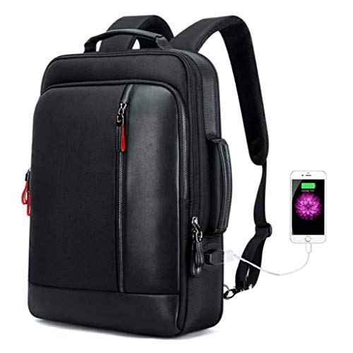 15.6-Inch Water-Resistance Casual Daypack, Anti-Theft Laptop Rucksack with USB Charging Business Laptop Backpack for Men College Backpack Large Capacity Computer Travel Business