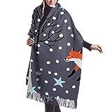 Bufanda de cachemira de Red Foxes, bufandas de moda, envolturas y pashminas