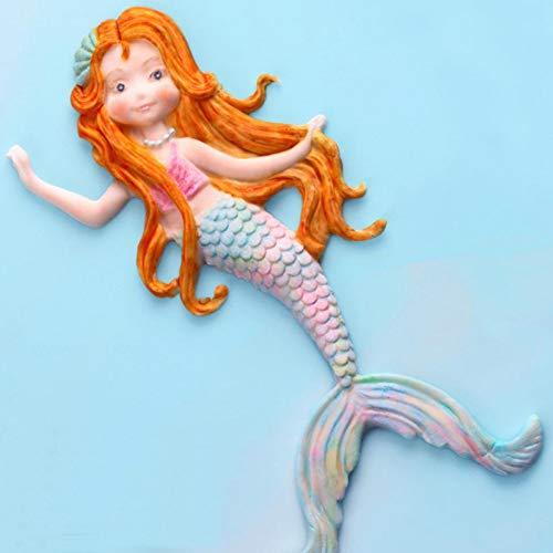 JINGRU Mermaid Fish Tail Silicone Moule Fondant Moule Gâteau Décoration Outil Chocolat, Gumpastes Moule, Sugarcraft, Accessoires De Cuisine