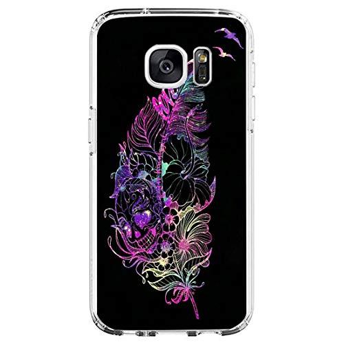 18eay Compatibile per Samsung Galaxy S6 Edge Plus Cover Trasparente Silicone Antiurto Custodia Soft Ultra Sottile Protettiva Cover Anti-Scratch TPU Gel Bumper Case per Galaxy S6 Edge Plus