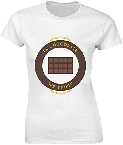 In Chocolate We Trust Nice Bar of Chocolate T-shirt pour femme - Blanc - Large