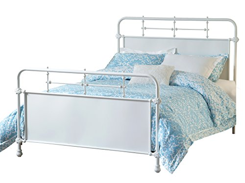 Hot Sale Hillsdale Furniture 1708BFR Kensington Bed Set with Rails, Full, Textured White