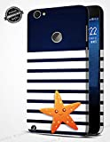 Jhingalala ® Blue Pattern with Star Fish Design Printed Mobile Back Case Cover for LeEco Le 1s