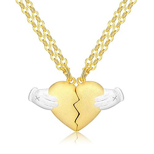 YQMJLF Collar Moda Accesorios Mujer Collares Heartbreak Pareja Collar Mujer y Hombre Plata Mismo Amor Corazón Mujer Joyas Navidad Año Nuevo Regalo cumpleaños Collar Personalizado Damas Regalos