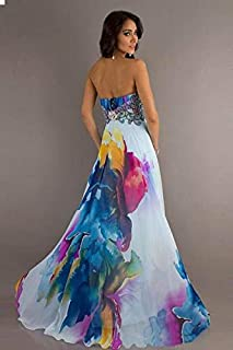 Sleeveless Printed Strapless Dress Medium L51253