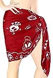 LA LEELA Bufanda para Cubrir la Cara s Skulls De Halloween Costume Las Mujeres Pareo Mujer Playa Corto Traje de baño Traje de baño Falda Pareo Mujer Playa Envoltura Mini Ropa de Playa Rojo_B932