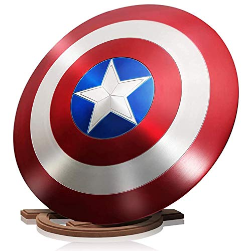 Avengers Marvel Captain America Scudo Superhero Series Metal Shield Halloween Costume Cosplay 1: 1 Bar Wall Hanging Decorazioni 60cm