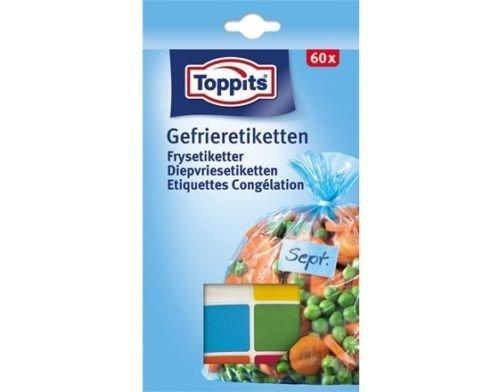 10 x Toppits® Gefrieretiketten / Selbstklebende Etiketten (60 Stück / Gefrierfest)