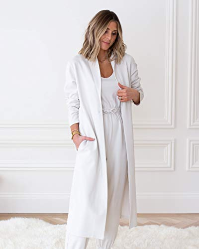 The Drop Women's Whisper White Shawl-Collar Knit Duster by @cellajaneblog