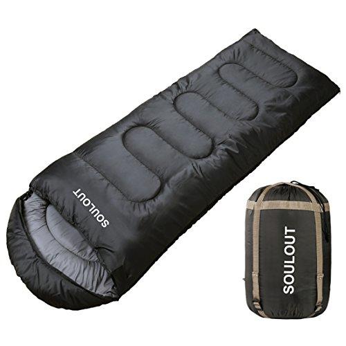 FUNDANGO 3-4 Saison compacts Sacs de Couchage Chauds avec Capuche pour Camping en Plein air randonn/ée randonn/ée Sac de Compression Inclus