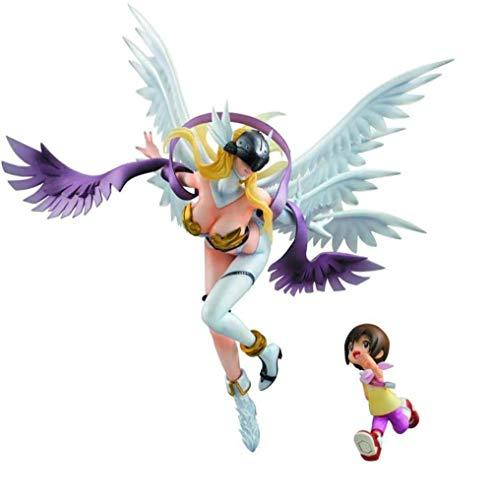UanPlee-SC Anime-Charaktere Digimon Adventure: PVC Figur Angewomon & Hikari - sehr detaillierte Skulptur - Höhe 9 8 Zoll MN430