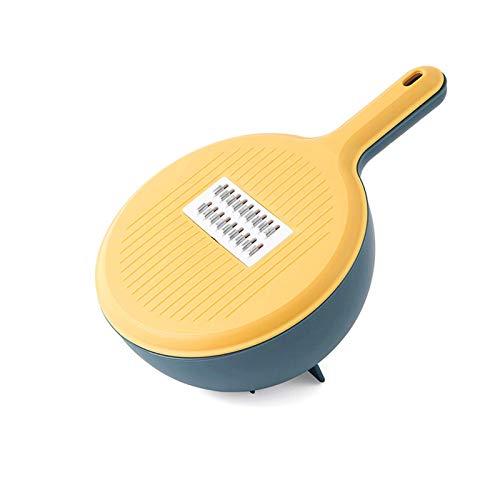 WINIAER Cortador de verduras de gran capacidad, cortador de verduras multifunción para cocina, rallador de juliana multiusos y rallador, cortador de frutas y rallador.