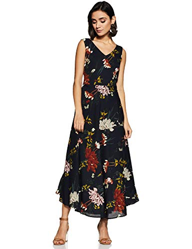 Harpa Women's Synthetic A-Line Maxi Dress