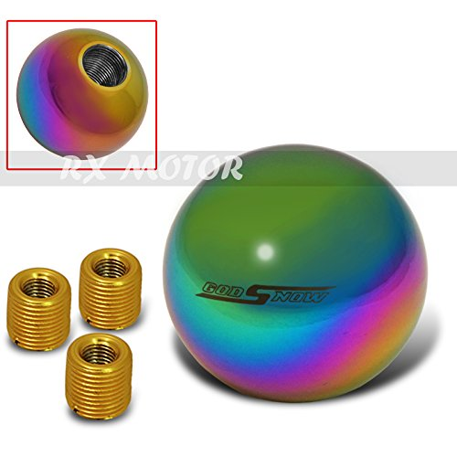 neon chrome shift knob - 2