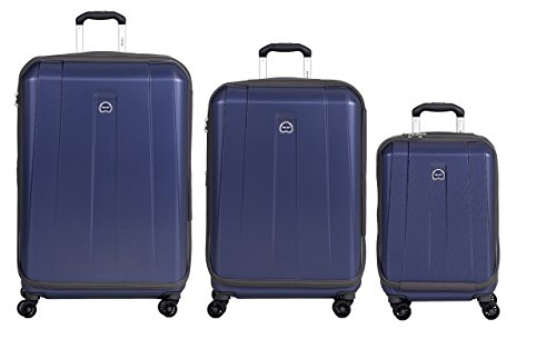 DELSEY Paris Delsey Luggage Shadow 3.0 Expand Hardside 21x25x29 Inches Luggage Set (Navy Blue)