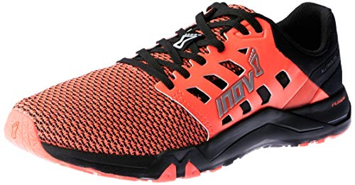 Inov-8 Womens All Train 215 Knit | Lightweight Cross Training Athletic Shoe | for Versatile Training | Great Support When Weight Lifting and Power Lifting |Black/Pink M9.5/ W11