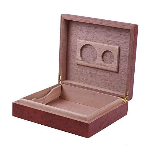 FKYNB Cederhout gevoerd sigarenhumidor luchtbevochtiger Met hygrometer Case Box