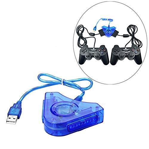 Pluto Accessories PS2 Game Controller to PC USB, 2 Player Gaming Adapter/Converter