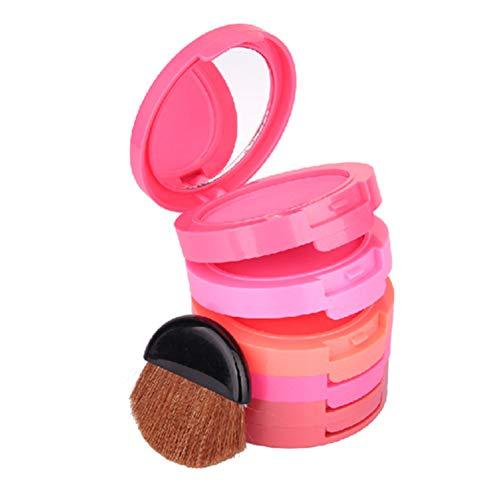 mi ji 5-color del maquillaje Colorete Mineral Natural Caja de ruborización del kit impermeable Mejillas Color cassette colorete en polvo frente a la caja 1set