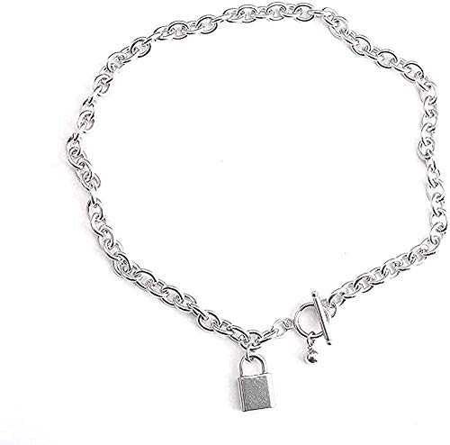 ZGYFJCH Co.,ltd Collar Colgante Pequeño Cerradura Cadena Clavícula Mujer Neklace para Mujer
