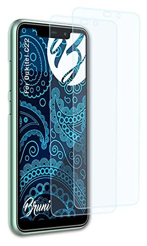 Bruni Schutzfolie kompatibel mit Oukitel C22 Folie, glasklare Bildschirmschutzfolie (2X)