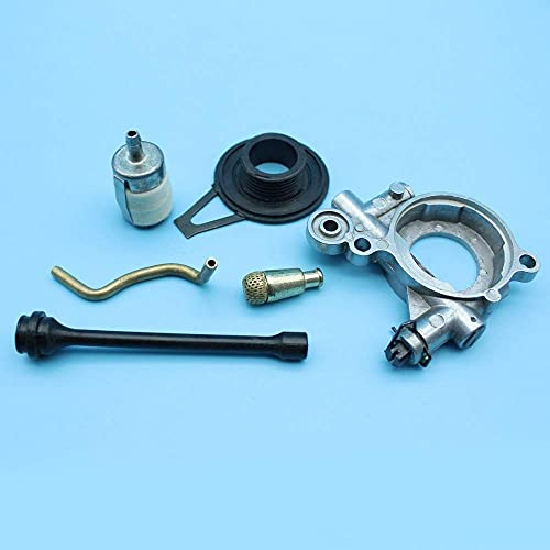 MQEIANG Kit de filtro de manguera de aceite de engranaje de gusano de bomba de aceite compatible con Husqvarna 362 365 371 372 XP motosierra 503521305,537207807,503426701,501544102
