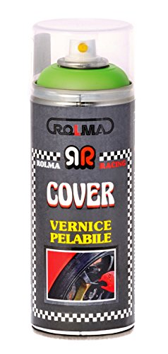ROLMA COVER Vernice removibile GREEN MONSTER FLUO - removable paint - bomboletta spray 400 ml. - spray can 400 ml.