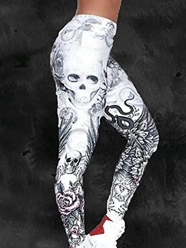 Uniquelove Pantalon Court Sexy Imprimé Crâne - Blanc XXL