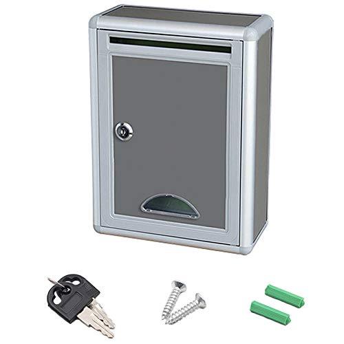 cherrypop Vintage Aluminum Alloy Lockable Secure Mail Letter Post Box Mailbox Post Box for Home Garden Ornament Decor