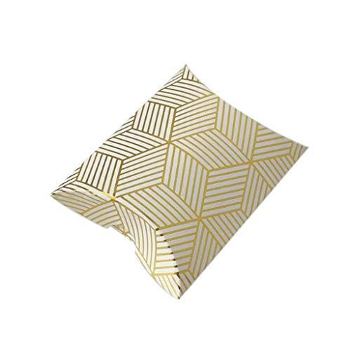 Yunso 25pcs Kreative Süßigkeitskästen, Kissen-Form Verpackung Für Hochzeitstagbevorzugung