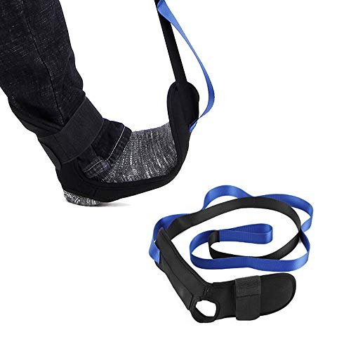 Stretching Strap Band Leg Stretch Belt Fuß Stretcher für Plantarfasziitis-Übungen, Fersensporn, Achillessehnenentzündung und Sprunggelenksbänder