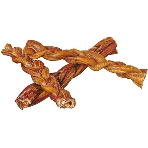 """7"""" Braided Bully Sticks for Dogs (10 Pack) - Natural Bulk Dog Dental Treats & Healthy Chews, Chemical Free, 7 inch Best Low Odor Pizzle Stix"""