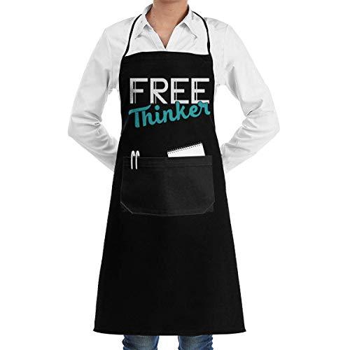 WH-CLA Delantal De Chef Freethinker Hombres con Bolsillos Delantal De Cocina Delantal De Cocina Mujeres Delantal De Babero del Día De La Madre Unisex Personalizar Delantal De Chef Ajusta