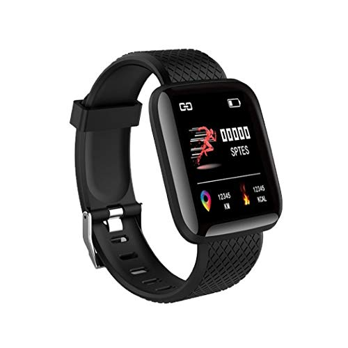 Smartwatch, Orologio da Polso Fitness Touchscreen da 1,3 Pollici, Fitness Tracker con Cardiofrequenzimetro, Impermeabile IP67 Smart Watch per Android/iOS(Nero)