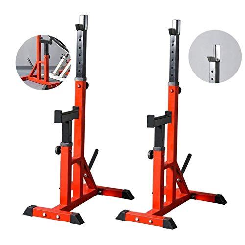 DSHUJC Dip Ständer Squat Rack Bankdrücken Hocker Langhantel Rack Squat Rack Fitnessgeräte Haushaltshöhe höhenverstellbare Gewichtheberstation Rack Langhantel Gewichtsbett (