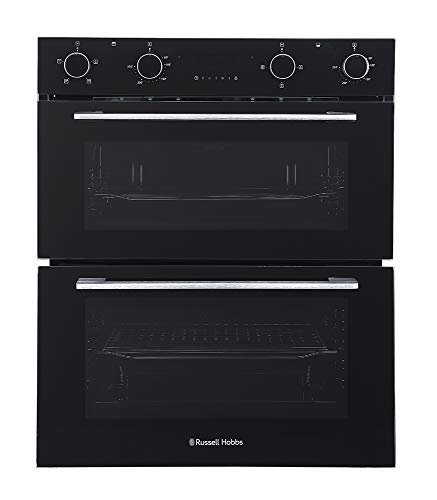 Russell Hobbs RH72DEO1001B Black 92L Built Under Electric Fan Double Oven -...