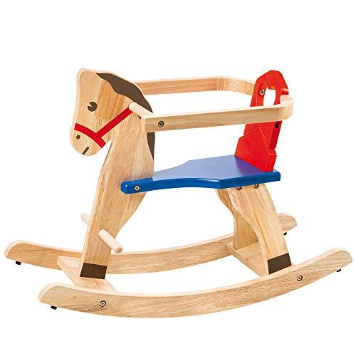 Slow Toys–selegiochi Cheval à Bascule, Marron, Bleu, Rouge, nv39582