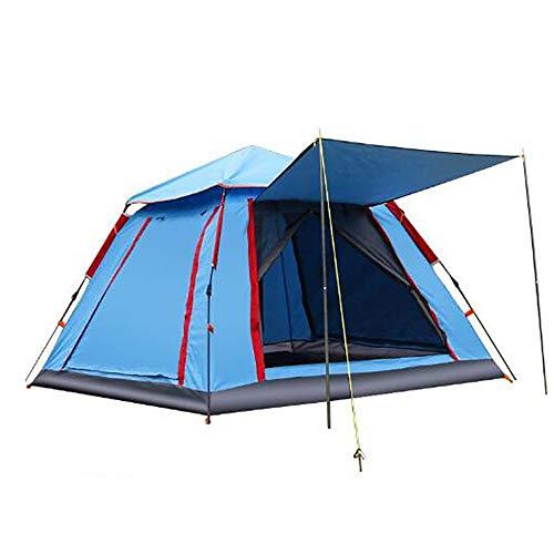 ASDFG Desert Tepee,Zelt,Campingzelt Wasserdicht Outdoor 3-4 Personen Doppelwandig Sofortiges Aufstellen Moskitoschutz Blau 85x85inch