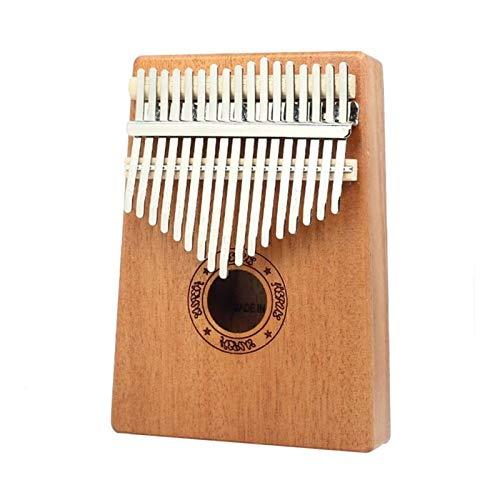 Kalimba, Daumenklavier 17 Keys Kalimba Daumenklavier Holz Mahagoni Musikinstrumente mit Tuning Hammer Cloth Aufkleber Mithelfer Weihnachtsgeschenk (Color : 17 Keys)
