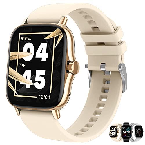 APCHY Smart Watch Reloj Inteligente,Fitness Tracker 1.63'Pantalla Táctil Completa Smartwatch IP68 Impermeable, Rastreador De Aptitud del Sueño con Monitor De Frecuencia Cardíaca,Amarillo